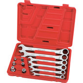 ROTHEWALD RATCHETING WRENCH SET, 12-PIECE