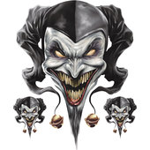 DECAL AIRBRUSH JESTER