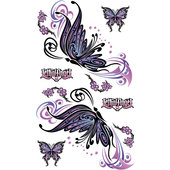 AUFKLEB. FLYING BUTTERFLY