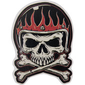 Sticker Mini skull flames helmet