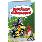 MOTOMANIA GREETINGS CARD
