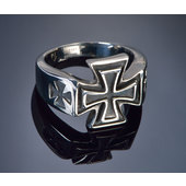 FINGER-RING IRON CROSS II GROESSE 19 BIS 22 MM