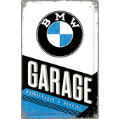 PLAQUE MÉT. *BMW GARAGE*