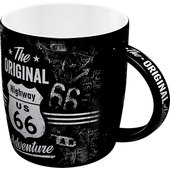 BECHER *ROUTE 66* INHALT: 330 ML, KERAMIK