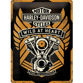 Blechschild Harley-Davidson Wild at Heart, Maße: 300x400 mm