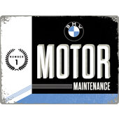 BLECHSCHILD *BMW MOTOR MAINTENANCE* 400X300 MM