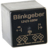 BLINKGEBER, 12V, 3-POLIG 2 - 100 WATT