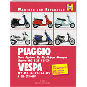 Wartung und Reparatur Piaggio Vespa, Bj. 91-09 (in German)