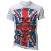 T-SHIRT ENGLISH FLAG VINTAGE GRAU