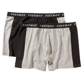 FASTWAY BOXER SHORTS COTTON, PACK OF 2