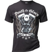 ART WORX T-SHIRT DEATH OR GLORY   SCHWARZ