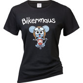 LADIES SHIRT BIKERMAUS        SCHWARZ