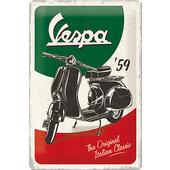 Blechschild Vespa Logo Maße: 30 x 20 cm