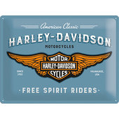 Metal Sign Harley-Davidson Logo Blue