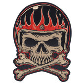 FLAME HELMET SEW-ON BADGE