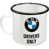 Emaille Becher BMW Drivers only Inhalt 360ml