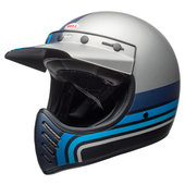 Bell Moto-3 Stripes silver/black/blue