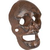 Metall-Wandflaschenöffner Skull