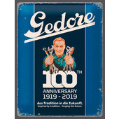 Metal sign: Gedore 100 years 1919 - 2019
