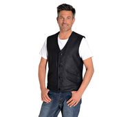Highway 1 Button leather vest