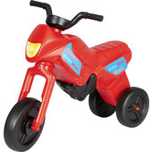 KINDERMOTOR ROOD LOOPFIETS IN MOTORDESIGN