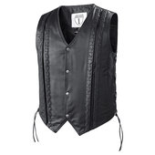 Highway 1 string leather vest
