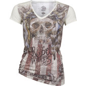 KING KEROSIN LADIES SHIRT INDIAN SKULL