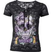 LETHAL ANGEL LADIES SHIRT MEXICAN SKULL