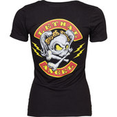 Lethal Angel Rocker Skull Damen Shirt