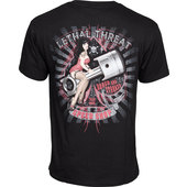 LETHAL THREAT T-SHIRT PIN UP PISTON