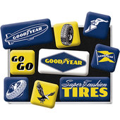 LOT DE 9 AIMANTS GOODYEAR