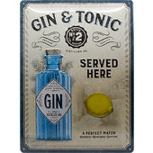Retro Metal Sign Gin & Tonic