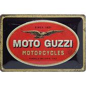 Blechschild Moto-Guzzi Logo Maße: 30x20cm
