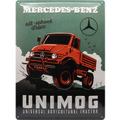 Retro Blechschild Mercedes-Benz - Unimog