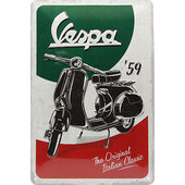 Metal Sign Vespa Logo Size: 30 x 20 cm
