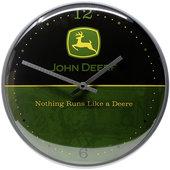 Retro Wanduhr John Deere Logo