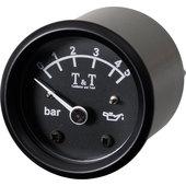T&T Öldruck-Anzeige 48mm, elektr., schwarz