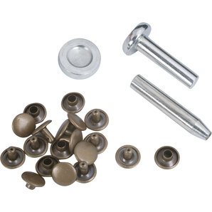 Rivets 9 mm Brass with Assembly Tools