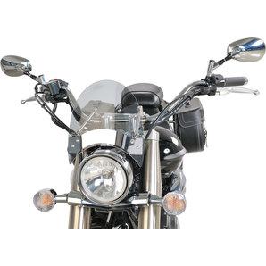 Puig Mini-Chopperscheibe CS2a leicht getönt- mit Haltesatz und ABE Motorrad