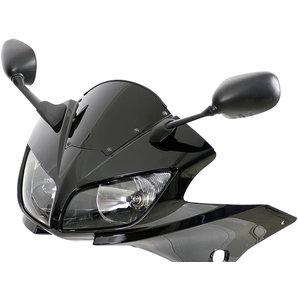 MRA Sportscheibe- schwarz mit Haltesatz und ABE Motorrad
