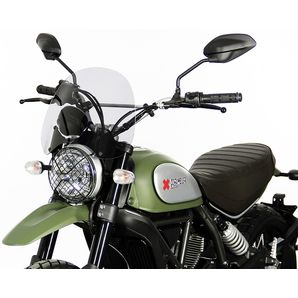 MRA Tourenscheibe für Naked-Bikes mit Spezialhaltesatz- Getönt- ABE Motorrad