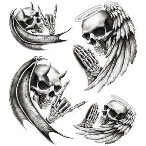 Aufkleber Totenkoepfe
