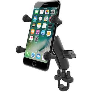 RAM Mounts Lenkerhalterung mit X-Grip u- Verbindungsarm für normale Smartphones Motorrad
