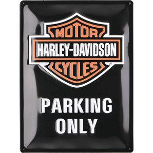 Blechschild H-D Parking