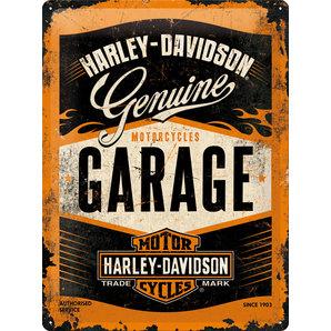 Blechschild H-D Garage