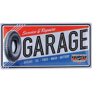 Blechschild Garage