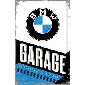Blechschild BMW Garage
