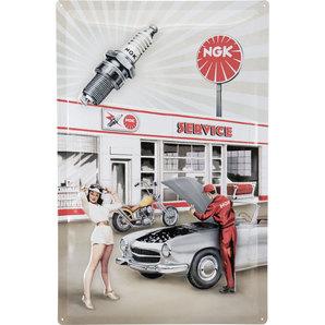 Blechschild NGK Garage