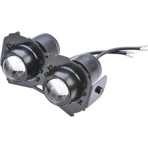 Ellipsoid Abblend- und Fernscheinwerfer mit Aluminium-Halterung Motorrad