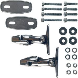 Magazi Adapter für Verkleidungen Schwarz- Set magazi Motorrad